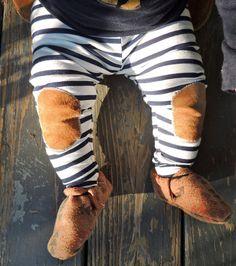 Aztec Leggings Green and Brown Boho Leggings Hipster by EWMcCall