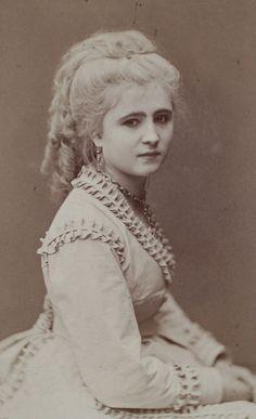 lamus-dworski: Atelier of Jan Mieczkowski (1830-1889) in Warsaw, Poland: portrait of Józefa Rutkowska, c. 1865 [via Polona].
