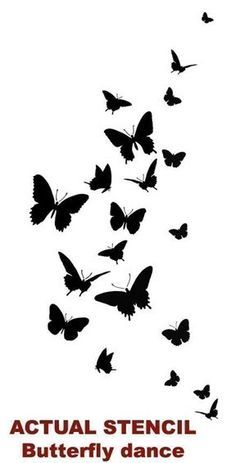 Butterfly Dance Wall Stencil Easy Wall by CuttingEdgeStencils