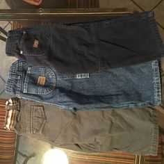 2T Boys Pants Lot Navy blue corduroy pants, Wonder Kids Charcoal pants, Wrangler Blue jeans. All gently used. Excellent condition. Smoke free home. All size 2T. Pants