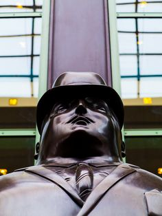 """Man"" statue by FERNANDO BOTERO DENVER PERFORMING ARTS CENTER, Denver, Colorado. IMG_1978 LR, via Flickr."