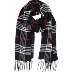 Humble Chic NY London Plaid Scarf ($38) ❤ liked on Polyvore featuring accessories, scarves, black, other, black check, plaid scarves, lightweight scarves, tartan cashmere scarves, cashmere scarves and cashmere shawl
