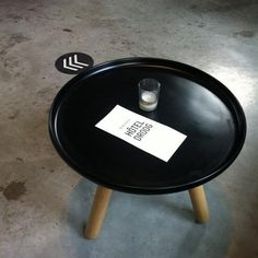 Tablo tables in black and wood | Danish Design at Droog