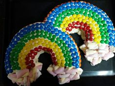 Rainbow cake. She's 10.