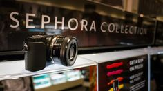 """The Sony NEX 3 trying to """"blend"""" with cool Sephora products. #Sephora #SonyElectronics #BeautyCaptured"""
