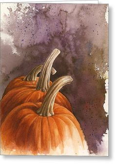 Pumpkin Harvest Greeting Card by Steve Mitchell