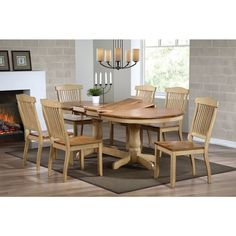 Iconic Furniture Honey/ Sand Oval Dining Table