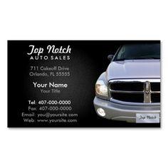 Auto Sale Car Dealership Business Card   Auto Sales Business Cards ...