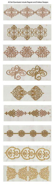 Elegant Linen Swirls Embroidery Machine Design Details