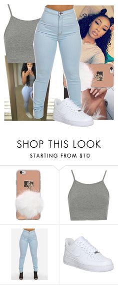 """""""Slayed and hair layed"""" by babygirlkikig ❤ liked on Polyvore featuring Topshop and NIKE"""