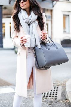 Winter Pastels - Zara coat // Equipment sweater Frame Denim jeans // Calypso St. Barth scarf SJP Collection pumps // Givenchy bag Monday, January 19, 2015