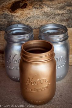 DIY Spray Painted Mason Jars - Love, Pasta, and a Tool Belt