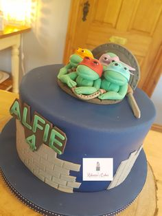 Ninja Turtles themed cake