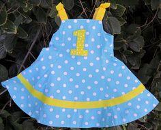 First Birthday DressSize 12 mo by gumdroptree on Etsy, $30.00