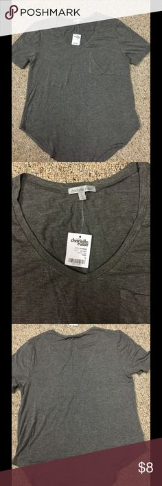 Charolette Russe Gray T-shirt Large Charlotte Russe gray t-shirt soft material size Large Charlotte Russe Tops Tees - Short Sleeve