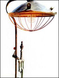 Vintage Industrial Metal Steampunk Lamp