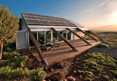 This sustainable home/building was designed by Estudio José Luis Rodríguez Gil and built in Canary Islands. It was actually built as a self-sufficient house that may create a good mix with the continuous terracing land. It is called House in Bioclimatic Experimental Urbanization