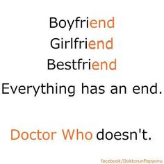 Doctor who will never end!!