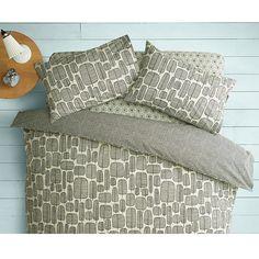 Buy MissPrint Home Little Trees Duvet Cover and Pillowcase Set, Monochrome | John Lewis