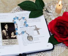 Unbreakable Catholic Relic Chaplet of St. Elizabeth Ann Seton - Patron Saint of Widows and Against In-Law Problems and Loss of Family by foodforthesoul on Etsy