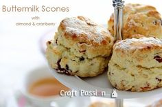Buttermilk Scones recipe with optional almond and cranberries. Quick and easy biscuits recipe that can be done in 30 minutes, best serve warm with tea. – Page 2 of 2 Buttermilk Scone Recipe, Easy Biscuit Recipe, Easy Biscuits, Cranberry Recipes, Cranberry Scones, Cranberry Almond, Toasted Almonds, Sweet Recipes, Yummy Recipes