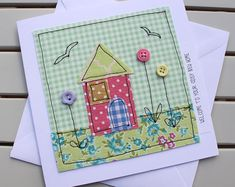 New Baby Boy Card Handmade Original Textile Machine   Etsy