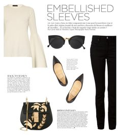 """""""Make a Statement: Embellished Sleeves"""" by katsin90 ❤ liked on Polyvore featuring The Row, Anja, T By Alexander Wang, Chloé, Christian Louboutin and RetroSuperFuture"""