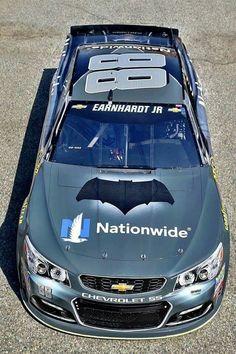 's Batman vs. Superman: Dawn of Justice paint scheme Nascar Race Cars, Nascar Sprint Cup, Police Cars, Jr Motorsports, Chevrolet Ss, Chevy Ss, Ferrari, Joey Logano, Dale Earnhardt Jr