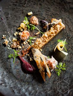 The Best Restaurant in Africa - Chicamod- The Test Kitchen in Cape Town- Foie gras mie cuit, rabbit ham and loin, parsnip purée, rooibos and vanilla poached pear Chef Recipes, Great Recipes, Parsnip Puree, Modernist Cuisine, Le Cap, Poached Pears, Sweet Wine, Foie Gras, Best Dishes