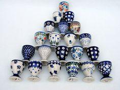 Polish Pottery Egg Cups
