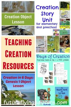 These are some of the best lessons, activities, games, and helps for teaching the concepts of Creation. I'm pretty sure you'll be able to find something to help you teach the first few chapters of Genesis to your kids at home or at church! #Bible #ObjectLessons #Creation #Genesis #Homeschool #KidsMin #SundaySchool #Church #freeresources