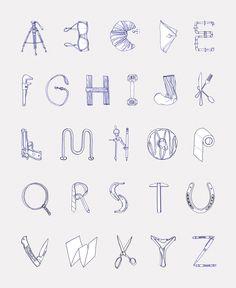 typography alphabet