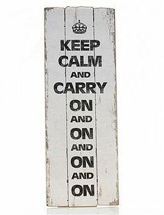 Fällt nicht immer leicht...sollte aber immer im Auge behalten werden: Keep calm and carry on and on and on...
