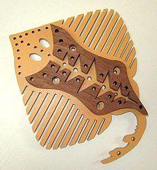 3 cm 5 cm-Découpé au laser en bois forme 4 cm MDF poisson un 2 cm