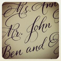 A recent calligraphy sample up close.