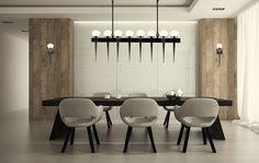 Dining room lighting, pendant, chandelier. Comet Chandelier by HTK Design for Boyd Lighting