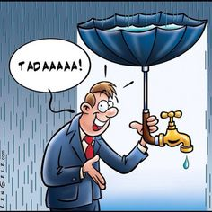 This guy has it all figured out! Collect rainwater, the uses are endless!  #ChooseRain #Rainwater #Rain #Water #RainCollection #WaterIsLife