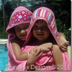 I have been wanting to make up a few hooded towels for my kiddos.  I searched Blogland and found some really great tutorials.  I chose ...