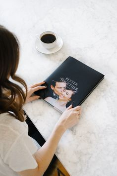 The Hardcover Photo Book touts classic appeal and archival quality, featuring recycled interior pages. Make your own custom Hardcover Photo Book. Wedding Photo Albums, Wedding Photos, Wedding Album Cover, Wedding Videos, Wedding Themes, Wedding Tips, Book Cover Design, Book Design, Light Pink Wedding Dress