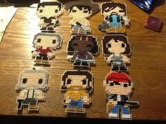 Plastic Canvas PATTERNS for Twelve characters on the television show The WALKING DEAD: Rick & Carl Grimes, Daryl Dixon, Michonne, Hershel &