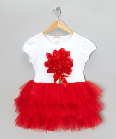 Take a look at this White & Red Flower Tutu Dress - Toddler & Girls by Paulinie on #zulily today!