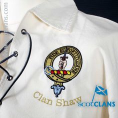 Shaw Clan Crest Embroidered Ghillie Shirt. Free Worldwide Shipping Available