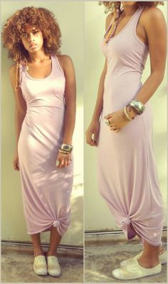 How to tie up a maxi dress