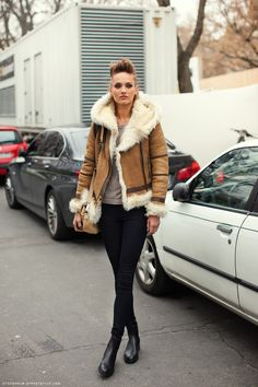London street style Winter                                     Can't say I love the hair but I like everything else
