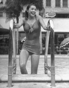 Esther Williams, the famed synchronized swimmer (seen here in 1943), got her start in movies when MGM wanted a female sports star to rival Fox's figure skater, Sonja Henie.