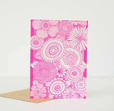 floral stationery graphic flowers by exit343design on Etsy