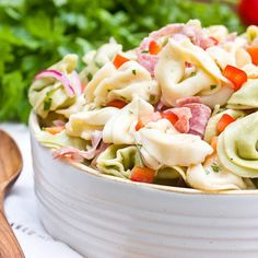 Zesty Tortellini Salad Recipe ~ super simple yet flavorful... perfect day or night, whether it's a casual lunch or fancy cocktail party!