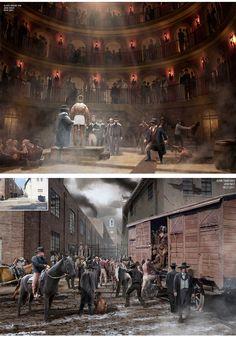 Concept Arts de Josh Nizzi para o filme Django Livre