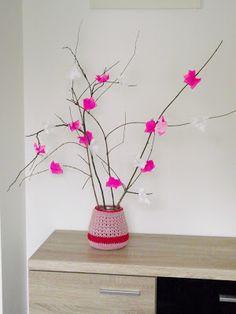 D.I.Y ( do it yourself )... czyli  Zrób TO Sam...: TUTORIAL- Jak zrobić kwitnące gałęzie z kwiatami w... It, My Works, Planter Pots