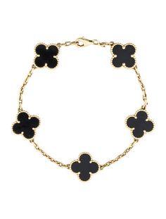 Van Cleef & Arpels Alhambra Onyx Bracelet